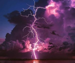 cielo, tormenta, and rayos image