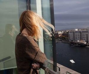 aesthetic, girl, and glass image