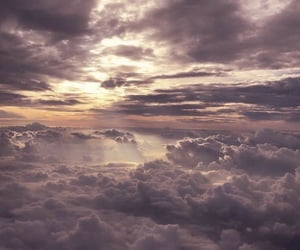 atardecer, nubes, and cielo image