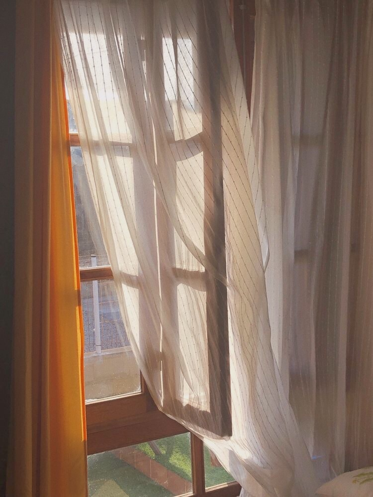 curtains, summer, and sun image