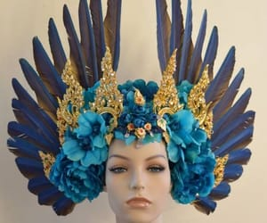blue, wings, and decoration image