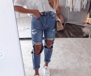 jeans, outfit, and shirt image