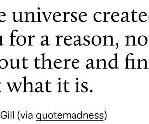 quote, text, and universe image