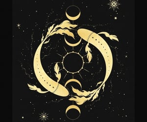 art, stars, and yin image