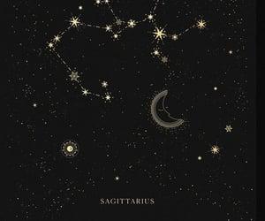 art, black, and constellation image