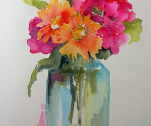 cheerful, flowers in vase, and light hearted image
