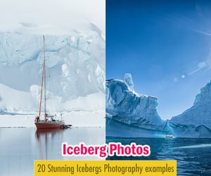 iceberg, nature photography, and phtpgraphy image