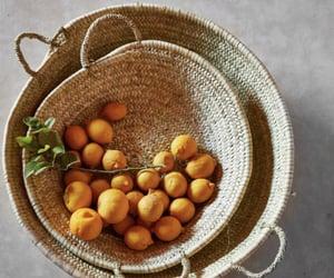 aesthetic, basket, and fruit image