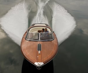 boat, couple, and luxury image