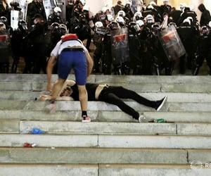 Belgrade, protests, and dictatorship image
