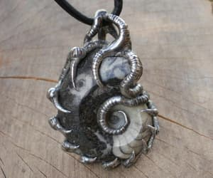etsy, rustic necklace, and mennecklace image