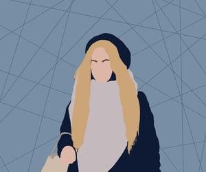 girl, картинка, and иллюстрация image