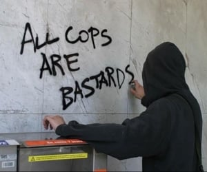 acab, bastards, and cops image