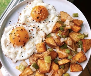 delicious, eggs, and food image