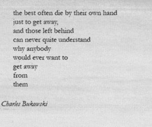 charles bukowski, quote, and poem image