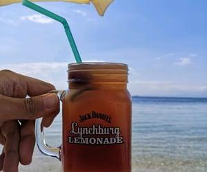 beach, blue, and lemonade image