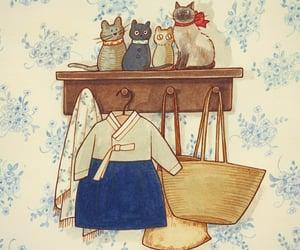 art, cats, and Corea image