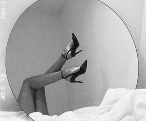 black and white and mirror image