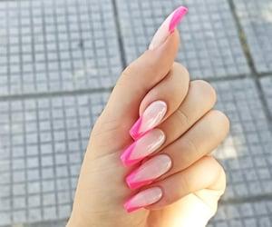 fuchsia, new nails, and manicure image
