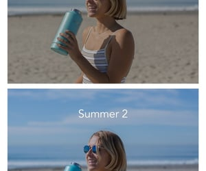before and after, blue tones, and preset image