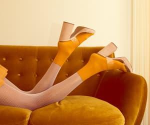 aesthetic, heels, and orange image