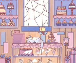 aesthetic, animation, and bakery image