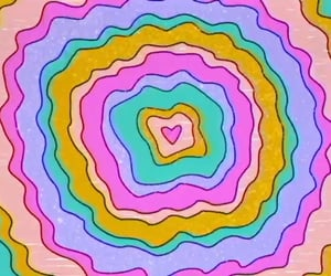 colors, galaxy, and heart image
