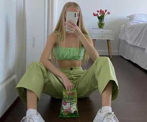 beauty, green, and fashion image