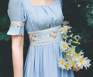 aesthetic, dress, and daisy image