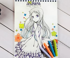 anime, menma, and drawings image