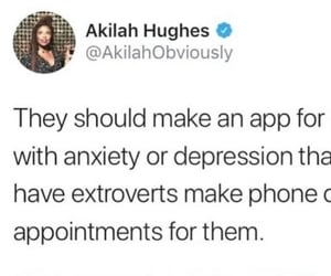 anxiety, depression, and phone call image