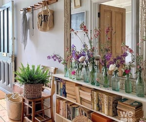 flowers, books, and decor image