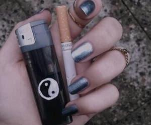 black, lighter, and nails image