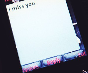 exit, miss, and text message image