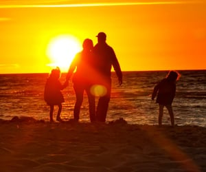 beach, couple, and future image
