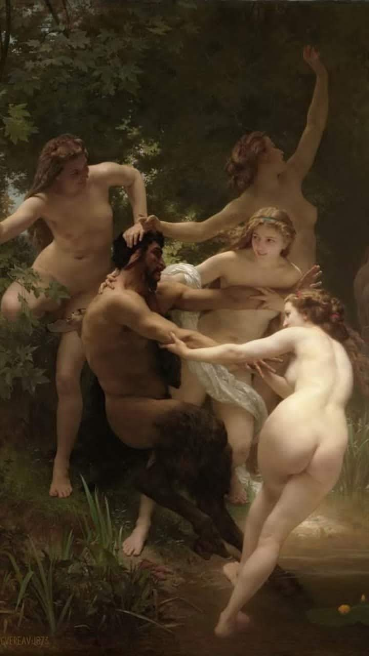 art, satyr, and details image