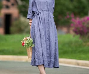 etsy, linen dress, and party dress image