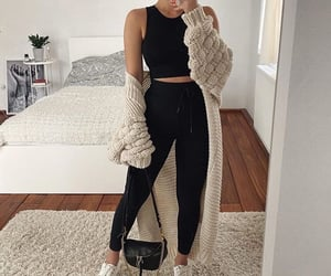 outfit, tennis, and jeans black image