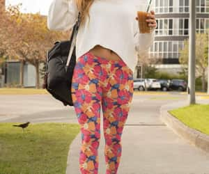 etsy, yoga pants, and hibiscus flower image
