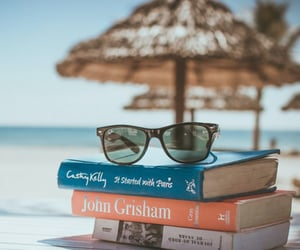 books, beach, and summer image