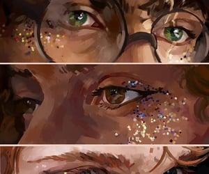 friendship, green eyes, and gryffindor image