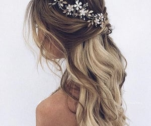 bride, wedding hair, and hair style image