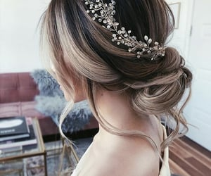 bride, wedding hair, and hairstyle image
