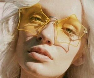 yellow, vintage, and sunglasses image