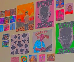 photo wall, indie room, and tyler the creator image