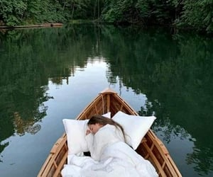 boat, dreamer, and forest image