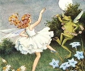 fairy, frog, and fantasy image