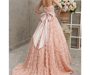 ball gown, girl, and pink image
