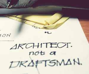 architect, inspiration, and typography image