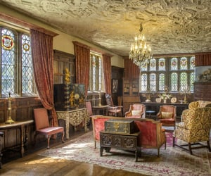 architecture, interior, and tudor image